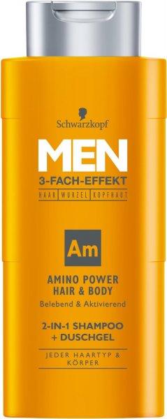 [Amazon] Schwarzkopf MEN 2in1 Shampoo + Duschgel Amino Power Hair, 4 x 250 ml