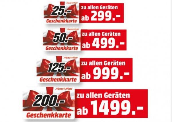 [MediaMarkt Hamburg] Gutscheine bei Neukauf: ab 299€ (->25€) gestaffelt bis 1499€ (->200€)