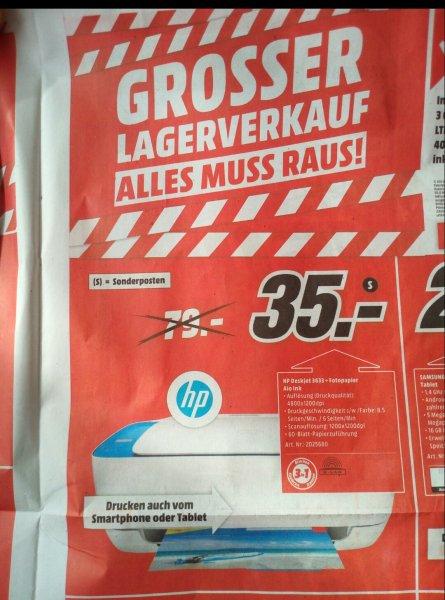 [Media Markt - Dessau-Roßlau] Grosser Lagerverkauf u.a : HP Deskjet 3633 + Fotopapier Aio Ink für 35€