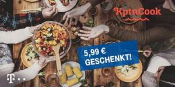 100 Lieblingsrezepte bei KptnCook geschenkt (für Telekom Kunden)