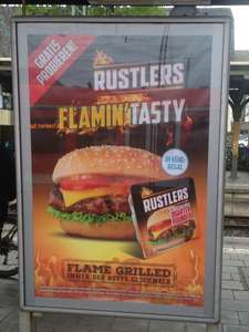 The Flame grilled Quarter Pounder von Rustlers Gratis Testen