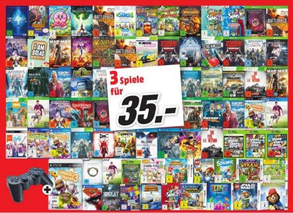 Lokal wiesbaden 3 Spiele für 35Euro Ps4 Xbox 3ds Ps3 pc