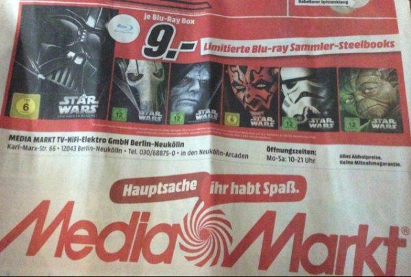 Star Wars BluRay-Sammler-Steelbooks im Mediamarkt Neukölln