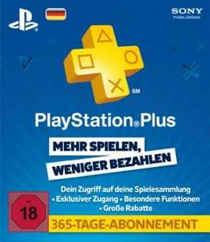 [G2A.com & Sofort.com] PlayStation Plus 365 Tage für 38,79€