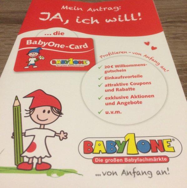 20€ geschenkt BabyOne Anmelden