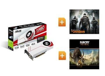 *WIEDER / WEITERHIN verfügbar (ebay) ASUS GeForce TURBO GTX970 OC 4GB The Division Far Cry Primal Gaming Grafikkarte inkl. 2 Spiele: The Division + Far Cry Primal (ca. 13% Ersparnis)