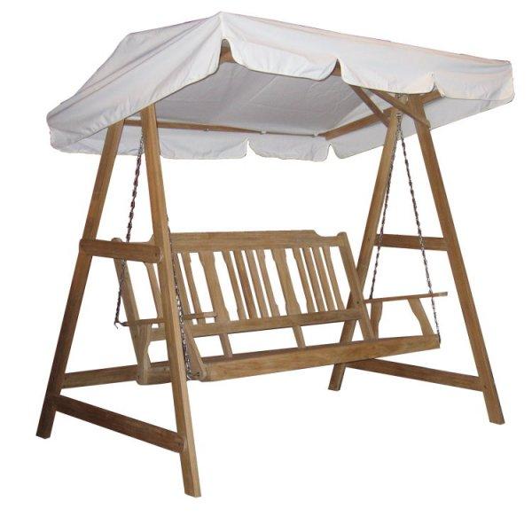 (eBay WOW // Paypal) Landmann Teak Holz Hollywoodschaukel 3-Sitzer Garten Schaukel Gartenmöbel (ca.21% Rabatt)