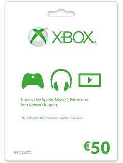Xbox LIVE Guthabenkarte 50 Euro für 46,54 €