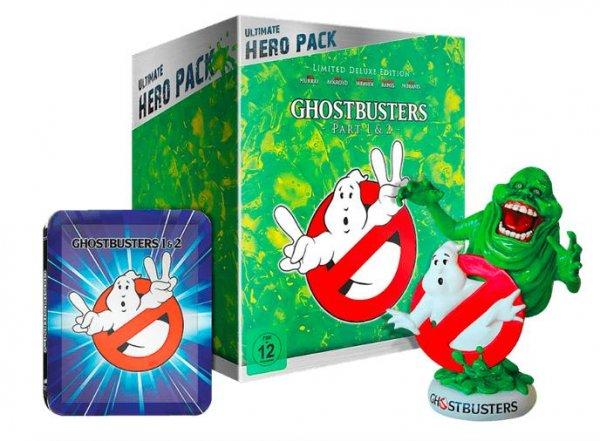 Ghostbusters I + II Ultimate Hero Pack inkl. Slimer Figur (Blu-ray) für 29€