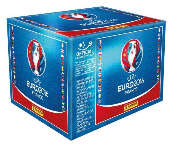 Panini UEFA EURO 2016 Display Box mit 500 Stickern (100 Tüten zu je 5 Stickern) für 49,99€ @ Bücher.de