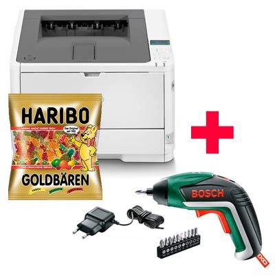 [Office Discount] OKI B412dn Laserdrucker + BOSCH Akku-Schrauber IXO 5. Gen. + 1 Kg Haribo Gummibären für 150,98€ inkl. Versand - für Gewerbetreibende