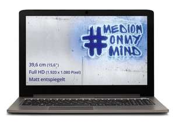 [Amazon] Medion Akoya S6417 (15,6'' AHVA-IPS FHD matt, Intel Core M-5Y31, 8GB RAM, 1TB HDD, Intel HD 5300, Wlan ac + Gb LAN, lüfterlos, Aluminiumgehäuse, ca. 6h Akkulaufzeit, Windows 10) für 476,03