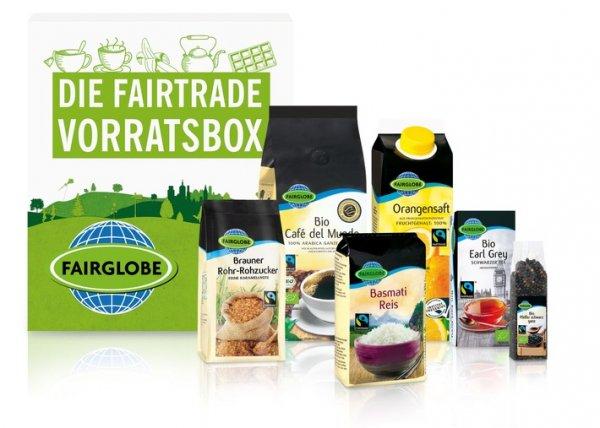Lidl Fairtrade-Vorratsbox: gemischte Box (Kaffee, Tee, Reis etc.) mit 25% Preisvorteil