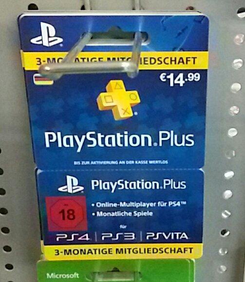 3 Monate Playstation Plus 14,99€ @ Mundorf Tankstelle Siegburg Brückberg