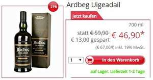 [Gourmondo.de] Ardbeg Uigeadail Single Islay Malt Scotch Whisky 46,90€ vsk. frei