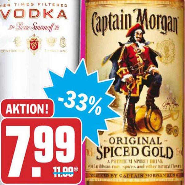 Captain Morgan die 0,7l-Flasche für nur 7,99 € bei [Hit]
