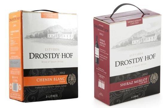"""Drostdy Hof™ - Weißwein """"Chenin Blanc"""" / Rotwein """"Shiraz Merlot"""" (jeweils 9 Liter) für je €14,90 [@eBay.de]"""
