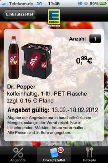 1L Dr. Pepper bei Edeka (evtl. Lokal - Schwäbisch Hall - Vellberg - Stuttgart)