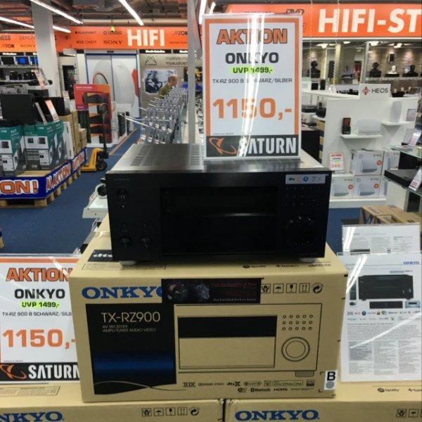 Onkyo TX-RZ 900 im Saturn Essen für 1050€ statt Online 1299 bei Idealo