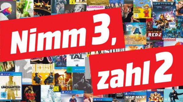 [Mediamarkt] 3 für 2 Aktion im Outlet auf Entertainment (Spiele PS4 / XBO, Filme etc.): z.B. alle 3 Hero-Boxen (Spiderman, Ghostbusters, Underworld) für 57,99€
