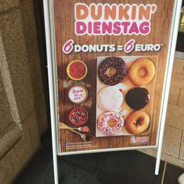 Dunkinx27 Dienstag 6 Stück für 6€ statt 7,99€
