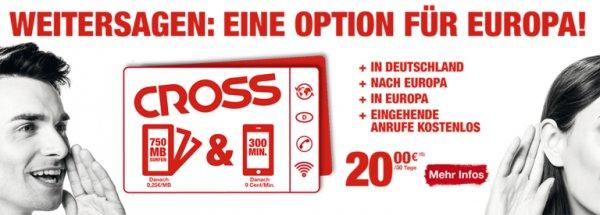 nur 20 € Damit können Sie   innerhalb von Europa surfen und telefonieren.