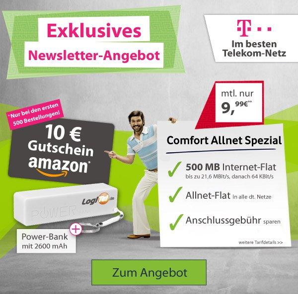 mobilcom-debitel Allnet Flat im D1 / Telekom-Netz für 9,99 EUR monatlich / 24-Monate