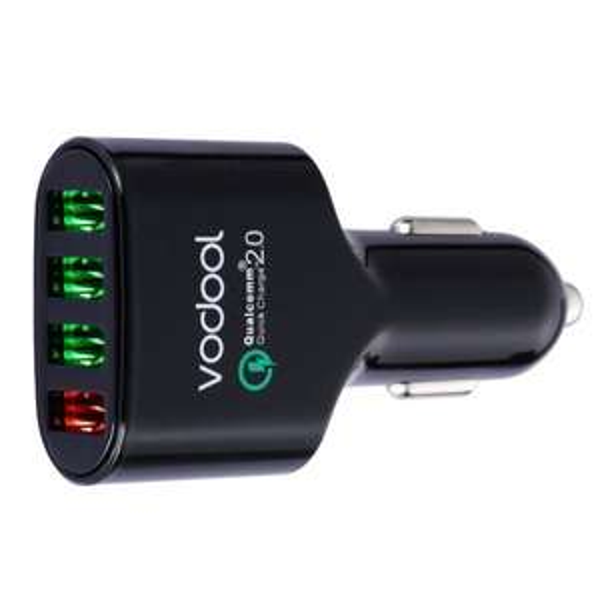 @Amazon: 4-Port USB Kfz Ladegerät (54W/5V) mit Qualcomm QC 2.0 Technologie ab 10,98€ mit Prime