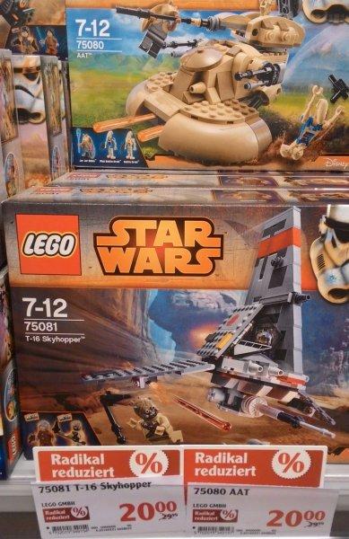 (Lokal Waghäusel) Lego Star Wars T-16 Skyhopper (75081) sowie Lego Star Wars - AAT (75080) im Globus für 20,-€