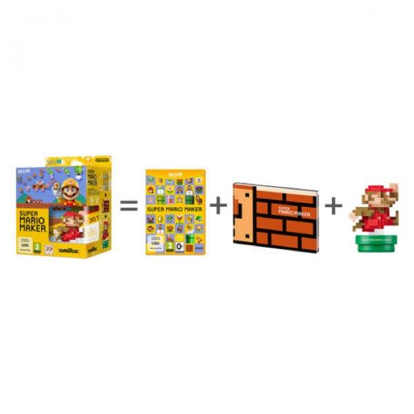 Nintendo, Wii U Spiel Super Mario Maker + amiibo Figur + Artbook