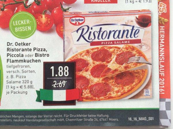 Dr. Oetker Ristorante Pizza, nächste Woche im Marktkauf