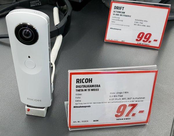 [Lokal Chemnitz] Ricoh Theta M 15 360° Kamera im Media Markt Sachsen Allee