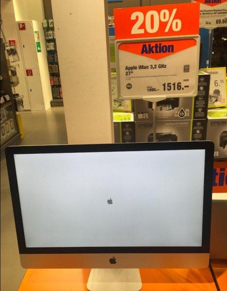 """[Schweiz lokal - Melectronics Brig VS] Apple iMac 27"""" mit 3,2GHz i5 und 1TB HDD"""