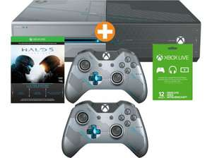 XBOX One 1 TB Halo 5: Guardians Limited Edition + 2 Controller + Halo 5 + 12 Monate Xbox Live @Saturn.at