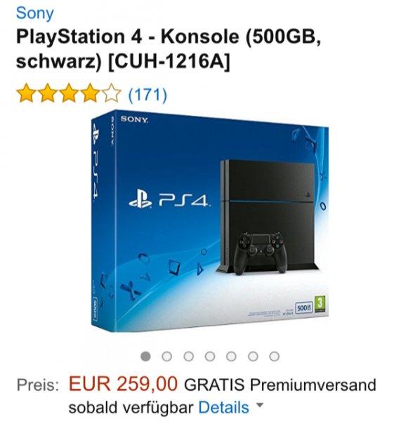 [Amazon] PlayStation 4 Konsole