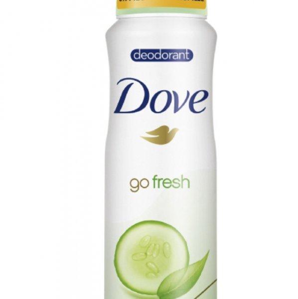 Dove Deospray go fresh Grüner Tee- und Gurkenduft ohne Aluminium, 6er Pack (6 x 150 ml) von Dove Amazon Sparabo + 25 % auf ausgewählte Dove Produkte =