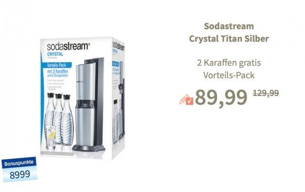 BUDNI Soda Stream Crystal Mega Pack inkl. 3 Glaskaraffen
