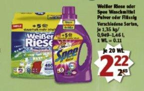 [Globus] Spee (neue schlaue Größe 20 WL) flüssig oder Pulver beim Kauf von 2 Packungen je 1,22 Euro/Packung