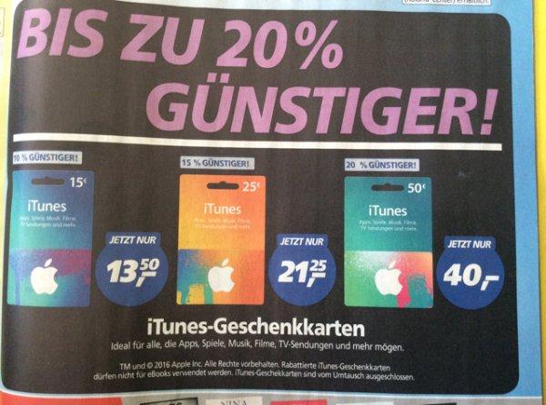 [Real] bis zu 20% auf iTunes Guthaben