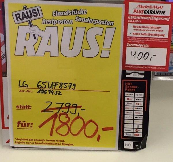 LG Electronics 65UF8579 von 2800 auf 1700