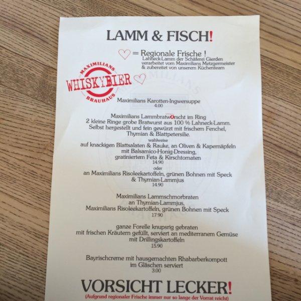 [Maximilians Lahnstein] Aktuelle Lamm & Fisch Angebote