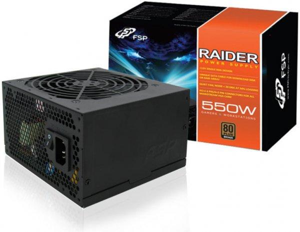 [NBB] FSP Fortron/Source Raider 550W Netzteil (80 Plus Silber, 5 Jahre Garantie) für 35,99€