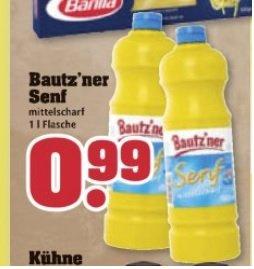 1 kg Bautzner Senf 0,99 € bei trinkgut