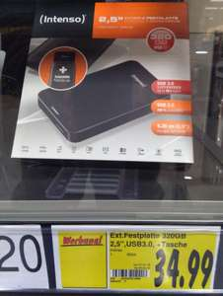 "(Kaufland Magdeburg) Intenso 2,5"" USB 3.0 320 GB externe Festplatte"