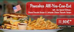 All You Can Eat für Pancakes in Miss Pepper American Restaurants am 18. & 19.04.2016