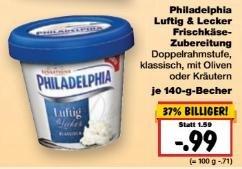 [Kaufland, KW16] Philadelphia Luftig&Lecker –69% (Angebot + Coupon)