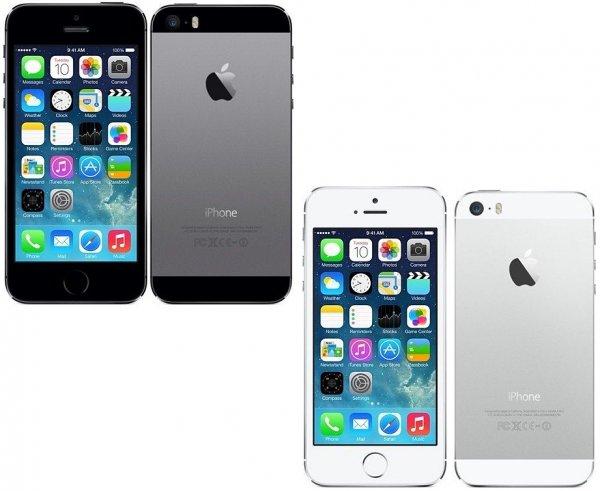 Apple iPhone 5S 32GB in grau oder silber (refurbished) für 269,00€ inkl. Versand - @DC