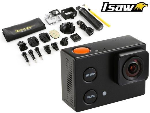 Isaw Edge GoPro Klon mit Display, 1080p 60fps, 2,7k 15fps, 4k 10fps für ca. 60€