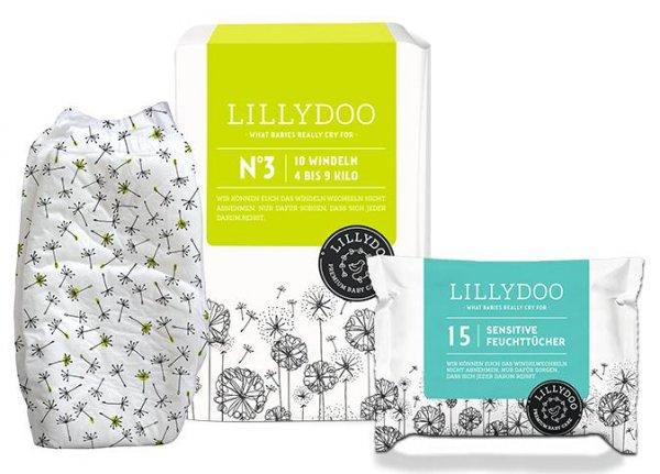 Lillydoo Windeln und Feuchttücher Testpaket für 1€