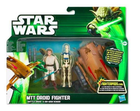 [Thalia.de] Star Wars: Class I Fahrzeug, MTT Droid Fighter, Battle Droid und Obi-Wan Kenobi für 19,19€ inkl. VSK statt ca. 30€
